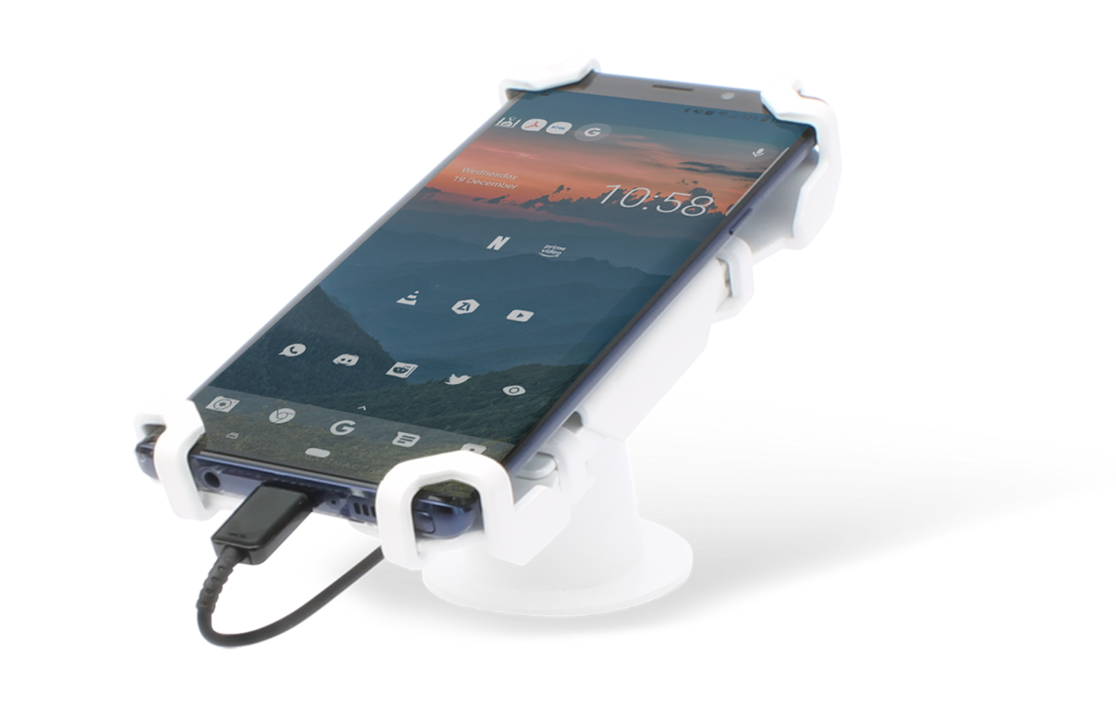 High Security Adjustable Smartphone Clamp